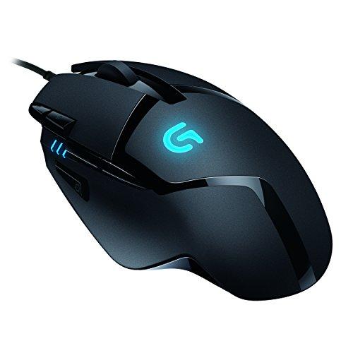 LogitechG402 Gaming-Maus Hyperion Fury (mit 8programmierbaren Tasten) schwarz