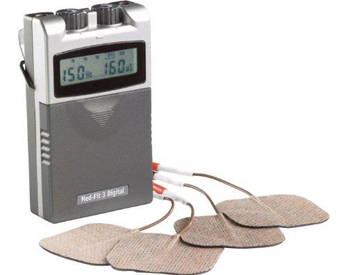Med-Fit 3 Dual Channel TENS-Maschine - hochwertige digitale TENS Schmerzlinderungs-Stimulator