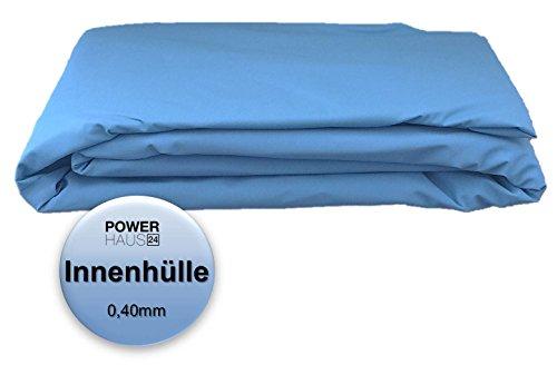 Poolfolie für Rundpool Ø 3,50m oder 3,60m x 0,90m - Stärke 0,40mm - Innenhülle von Powerhaus24