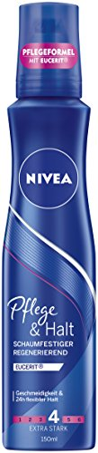 Nivea Extra Stark Pflege & Halt Schaumfestiger, 3er Pack (3 x 150 ml)