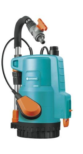 GARDENA Regenfasspumpe Classic 4000/2: Tauchpumpe mit Trockenlaufsicherung, bis zu 4000 l/h Fördermenge, stromsparend, kurze Ansaugzeiten, integrierter Filter, 2-stufiges Pumplaufwerk (1740-20)