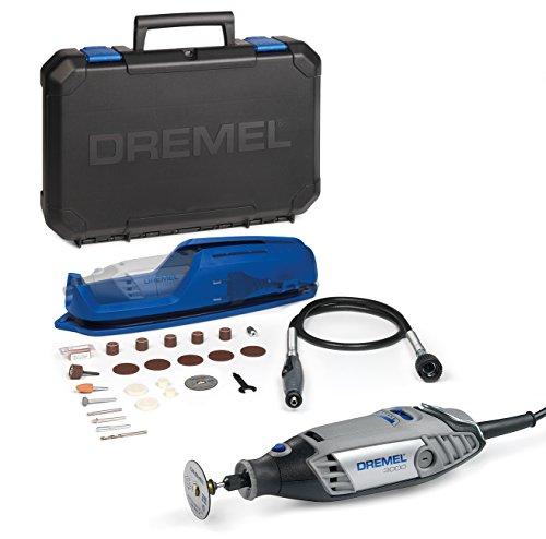 Dremel Multifunktionswerkzeug 3000-1/25 EZ (25tgl Zubehör Set, Vorsatzgerät, Werkzeugkoffer, 130 Watt)