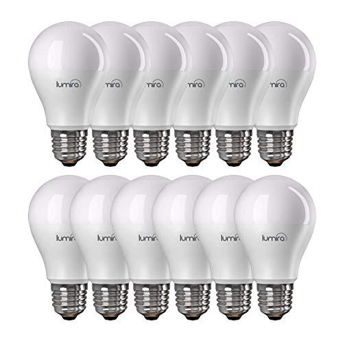 Lumira LED Leuchtmittel, E27 Birne, 12 Watt (ersetzt 75W), warmweiß (2900 Kelvin), matt, 12er Set