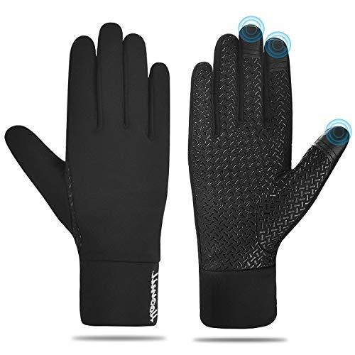 HOOMIL Laufhandschuhe Touchscreen-Handschuhe Leicht Warme Handschuhe für Herren Damen Sporthandschuhe für Spaziergang Laufen, Radfahren, Fahren, Klettern im Frühjahr Herbst und frühen Winter (M)