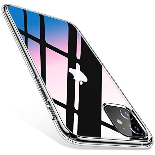 TORRAS HD Hybrid iPhone 11 Hülle [Transparent & Anti Gelb] Stoßfest Klar iPhone 11 Case Hard PC Back & Soft TPU Bumper Cover Handyhülle für iPhone 11 - Transparent