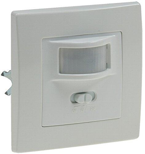 Chilitec 21251 Unterputz PIR-Bewegungsmelder 160° LED geeignet, 2-Draht Technik, weiß