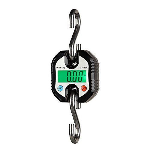 Decdeal WeiHeng Kranwaage Digitale Kofferwaage Gepäckwaage 3 Wägeeinheiten (0-100kg / 50g, 100-150kg / 100g)