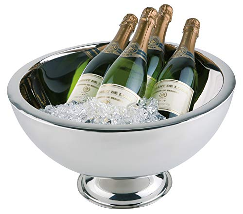 Buddy´s Bar - Champagnerkühler, hochwertiger Sektkühler aus Edelstahl, hochglanzpoliert und doppelwandig, extra robust mit 10,5 L Fassungsvermögen, spülmaschinengeeignet