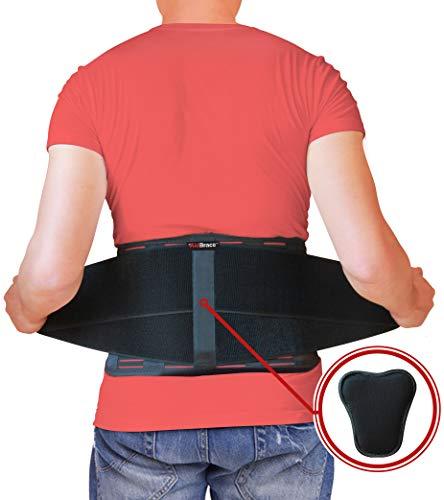 AidBrace Rückenbandage Stützgurt - lindert Schmerzen im unteren Rücken, Ischias, Skoliose, Bandscheibenvorfall oder Bandscheibendegeneration (L/XL)