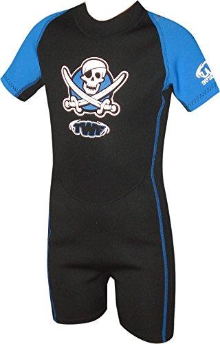 TWF kurzer Piraten-Neoprenanzug für Kinder - blau, 7-8 Jahre, K3