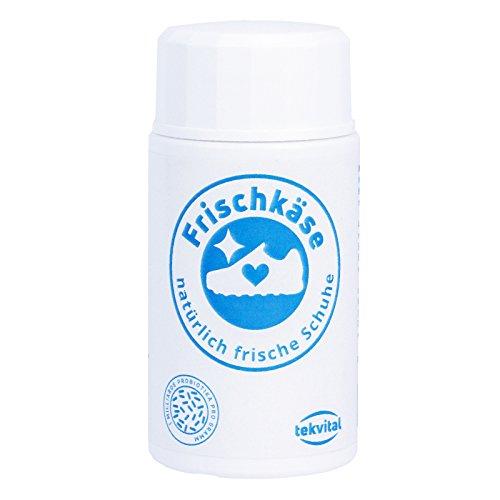 Frischkäse - das mikrobiologische Schuhpuder - Schuhdeo gegen Fußgeruch - Besser als ein Spray   Frische für Arbeitsschuhe, Sicherheitsschuhe, Sportschuhe & mehr