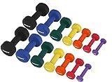 Neopren Hanteln Gewichte für Gymnastik Kurzhanteln 0,5 kg - 5 kg oder Set komplett (Set komplett)