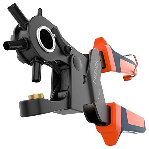 Presch Lochzange für Leder - Revolverlochzange mit Hebelübersetzung zum Lochen von Filz, Stoff, Papier, Pappe - Profi Werkzeug