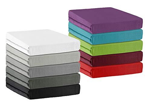 Niceprice Spannbettlaken Spannbetttuch aus Microfaser in 5 Größen, 200x220 cm +40 cm Steghöhe auch für Wasserbetten und Boxspringbett Anthrazit