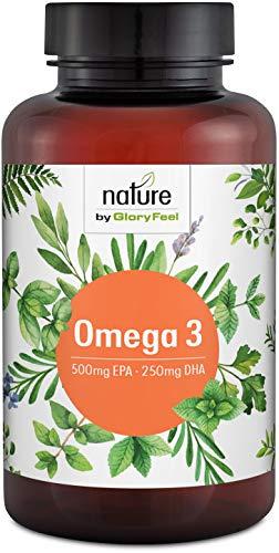 Omega 3 Fischöl-Kapseln Hochdosiert - 1000mg reines Fischöl pro Softgel-Kapsel mit 50% EPA und 25% DHA - Premium Omega 3-Fettsäuren aus Anchovis - Laborgeprüfte Herstellung in Deutschland