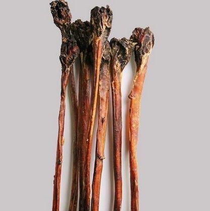 Ochsenziemer Luftgetrocknet ohne Farb & Konservierungsstoffe  90 cm lang mit großem Fleischknopf. (2 Stück)