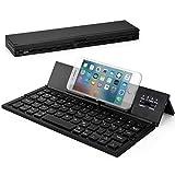 Wesimplelife Bluetooth Tastatur Faltbare Kabellose Kleine Keyboard Ultradünn Portable Falttastatur Kabellos Kompatibel für Android Smartphone Tablet Notebook iPad Windows
