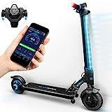 Marktneuheit 2018! E-Roller IX300 von Bluewheel mit Smartphone APP & Multicolor LED & LCD-Display, Akku bis 20km*, klappbarer Bluetooth Elektro-Roller E-Scooter Erwachsene & Kinder 350W Elektroscooter