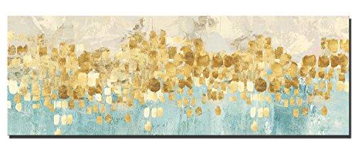 60x180cm - Leinwanddrucke Wandkunst - Gold Abstrakte Kunst Moderne Drucke auf Leinwand Große Leinwand Gemälde Wandkunst für Wohnzimmer (PC5755, 60 x 180 cm)