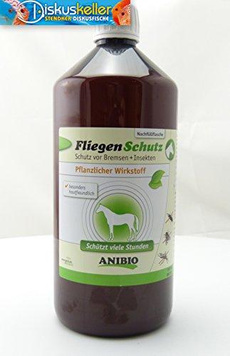Anibio FliegenSchutz Spray für Pferde 1000 ml (Ohne Sprühkopf) Schutz vor Bremsen + Insekten/Rein biologisch