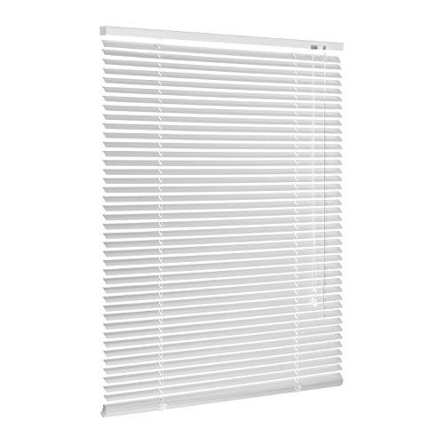 Ventanara Jalousie Aluminium Weiß inklusive Montagematerial mit und ohne Bohren 140 x 160 cm