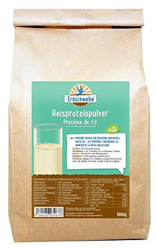 Erdschwalbe Reisprotein / Vegan und glutenfreies Eiweißpulver / 1 Kg