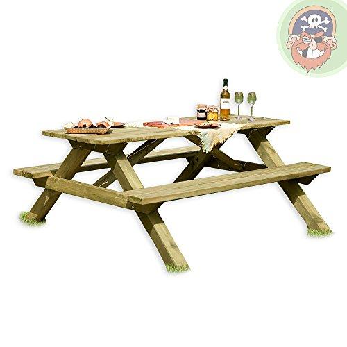 Picknicktisch aus Holz / Biergartengarnitur Tegernsee von Gartenpirat
