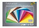 folia 6125/50 99 - Fotokarton Mix 25 x 35 cm, 300 g/qm, 50 Blatt sortiert in 50 Farben - ideale Grundlage für zahlreiche Bastelideen