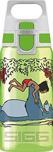 Sigg Kinderflasche VIVA ONE Junglebook, Kinder Trinkflasche, 0.5 L, Polypropylen, BPA Frei, Grün, Grün, 0.5 L, 8686.30