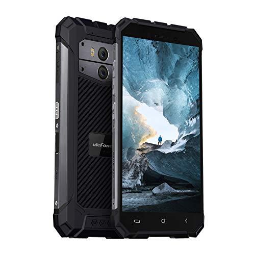 Ulefone Armor X2 2019 Android 8.1 Outdoor Smartphone ohne Vertrag, 5500mAh Akku 5V2A Schnellladung, NFC, Finger Sensor, 5,5 Zoll, 2GB + 16GB, IP68 Handy Wasserdicht, 13MP + 5MP + 8MP Kameras, Schwarz