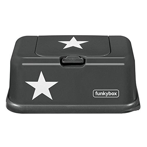 Feuchttücherbox, Funkybox anthrazit mit Sternen