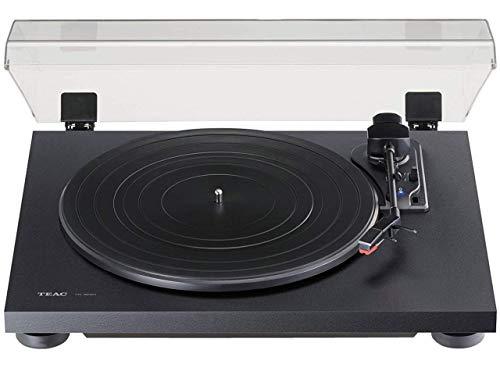 Teac TN-180BT(B) Hifi Plattenspieler mit Bluetooth Sender für Lautsprecher und Kopfhörer (Riemenantrieb, 33/45/78 U/min, integrierter Phono-Vorverstärker, High-Density MDF-Gehäuse), Schwarz