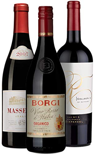 Primitivo & Zinfandel Entdecker-Set   3 Flaschen Rotwein (trocken) aus Italien & Kalifornien   Ideal als Geschenk-Paket oder für den persönlichen Wein-Genuss