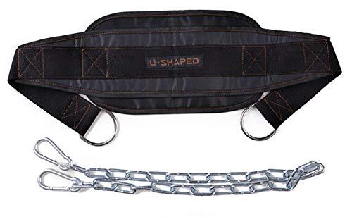 Tebery Dip Gürtel / Dip Belt für Zusatzgewichte beim Krafttraining, Klimmzügen und Dips (Dipgürtel)