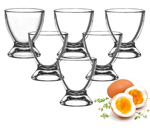 Sendez Eierbecher aus Glas Eierständer Eierhalter Glaseierbecher 6-12-tlg. (6 Stück)