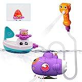 GizmoVine Badespielzeug U-Boot Boot Set Badewannenspielzeug Set Schwimmendes Poolspielzeug Wasserspielzeug Babyspielzeug für Jungen und Mädchen