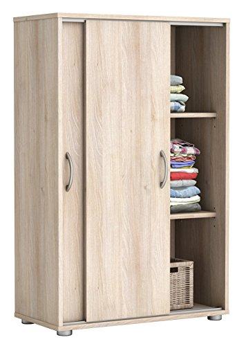 Wäscheschrank Akazie 2 Türen B 68 cm H 106 cm Schrank Schiebetürenschrank Holzschrank Kinderzimmer Jugendzimmer Schlafzimer Kleiderschrank