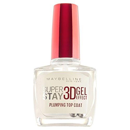 Maybelline New York Make-Up Nagellack Super Stay 3D Gel-Effekt Topcoat / Gel- Überlack ohne UV-Lampe, mit bis zu 10 Tagen Halt, 1 x 10 ml