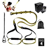 O RLY Schlingentrainer Sling Trainer Bodyweight Fitness Resistance Straps Trainer (P3 Pro 4) Militärgrün
