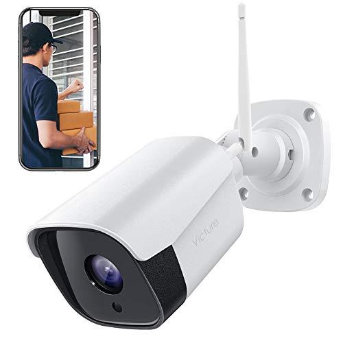 Victure Outdoor WLAN Überwachungskamera Wetterfeste WiFi Kugelkamera, CCTV Kamerasystem mit Nachtsicht,Mit Zwei Wege Audio, Bewegungserkennung, Outdoor Kamera
