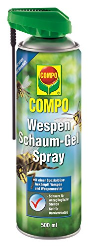 COMPO Wespen Schaum-Gel-Spray inkl. Sprührohr, Sofort- und Langzeitwirkung, 500 ml