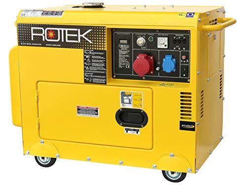 Rotek Diesel Stromerzeuger GD4SS-3-6000-5EBZ (5,5 kVA / 400V 50Hz 3-phasig)