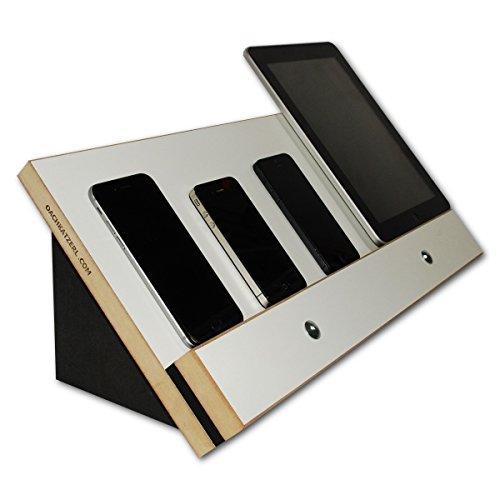 VanDock 47 Multi Ladestation (Die Dockingstation ohne sichtbare Kabel für Handy & Tablet, Apple, iPhone, iPad, Samsung, Galaxy, Fire-Tablet - Universal Ladestation für mehrere Handys und Tablets) VD47 - (Weiß)