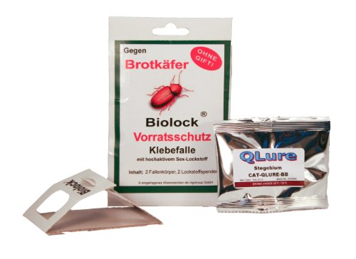 Biolock Brotkäferfalle Set (2 Fallen + 2 Pheromone)