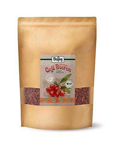 Biojoy getrocknete BIO-Goji-Beeren | naturreine BIO-Wolfsbeeren | ungeschwefelt & ungezuckert | Superfood-Beeren ohne Zusätze | traditionelle Heilpflanze TCM | Lycium barbarum (1 kg)