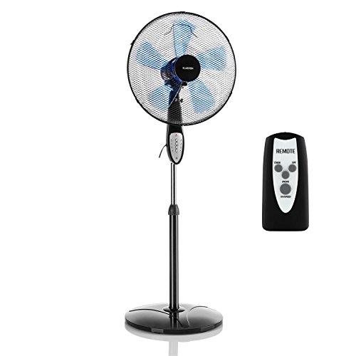 Klarstein Summerjam • Standventilator • Standlüfter • 5 Rotorblätter • Oszillationsfunktion • 50 Watt • 3 Stufen • Timer • Schutzgitter • Fernbedienung • schwarz