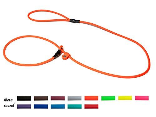 Mystique Biothane Moxonleine Retrieverleine 6mm (130cm, neon orange)