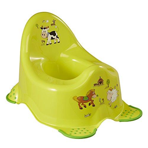 keeeper Funny Farm Babytopf, Ab ca. 18 Monate bis ca. 3 Jahre, Anti-Rutsch-Funktion, Adam, Grün