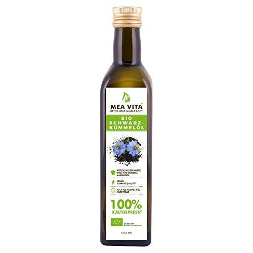 MeaVita Bio Schwarzkümmelöl, kaltgepresst, 1er Pack (1 x 500ml)