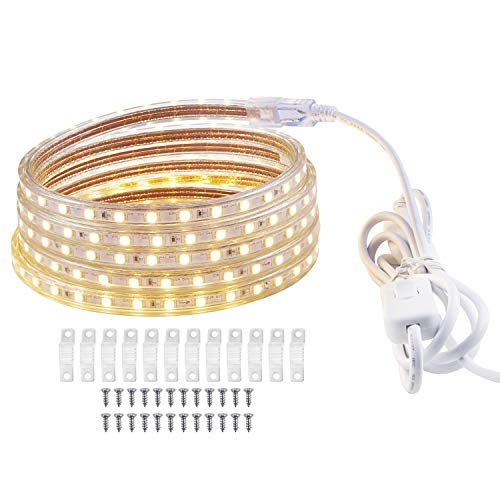 1 Meter LED Streifen, LED Lichtleiste Wasserdicht, 3000K Warmweiss Lichtleiste für DIY Dekoration, Küche